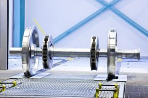 Radsatz mit Bremsscheiben, Siemens AG Österreich, Werk Graz