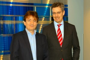 Präsident Dipl.-Ing. Thomas Karl (rechts) und Vizepräsident Dipl.-Ing. Manfred Reisner (links)