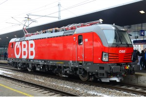 "ÖBB 1293 001 ""Vectron"", Mehrsystemlokomotive, Präsentation am 05.03.2018"