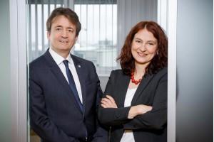 DI Manfred Reisner (Präsident) und Dr. Angela Berger (Geschäftsführerin)