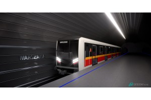 Die neue Warschauer U-Bahn von Škoda Transportation wird von Knorr-Bremse ausgerüstet.© Škoda Transportation a.s.