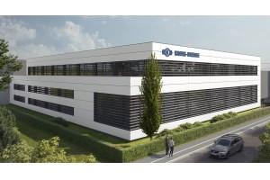 Das neue Gebäude wird energieeffizient nach aktuellem Standard errichtet und trägt dazu bei, den ökologischen Fußabdruck von Knorr-Bremse zu reduzieren.© Huss Hawlik Architekten ZT GmbH