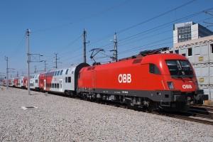 ÖBB 1116 123 mit RegionalExpress, Wien Praterstern